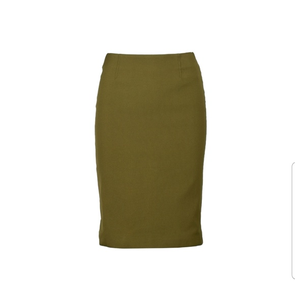 Prada Dresses & Skirts - Prada olive green pencil skirt sz 44/ 10 USA